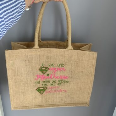 Le grand sac en jute message